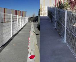 Valla de Malla Plegada Tipo Hércules en Factoría de Megasider (Zaragoza)