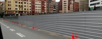 Vallado para Obra de Chapa opaca en Termibus (Bilbao)