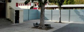 Valla de Obra de Chapa Opaca CEIP AUSIAS MARCH de MISLATA  (Valencia)