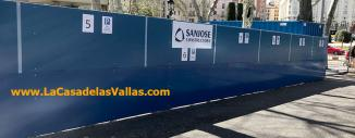 Valla de Obra Opaca de Panel Sandwinch en Madrid