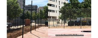 Vallado de Red de Protección en Pista Deportiva de Zaragoza