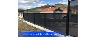 Verja decorativa de Chapa Micro Perforada en Olloki (Navarra)