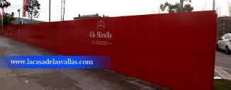 Valla de Obra Opaca de Panel Sandwich en Barcelona