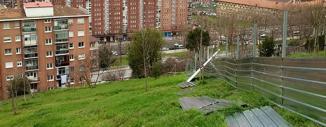 Valla de Obra Opaca en Canal de Deusto, San Mamés y Arangoiti (Bilbao)