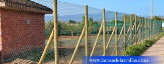 Valla de Simple Torsión con Poste de Madera en Calahorra (La Rioja)
