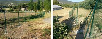 Valla de Simple Torsión Verde en Javier (Navarra)