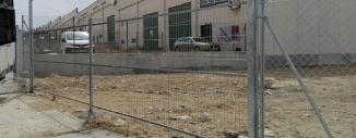 Vallado de Simple Torsión en Parcelas de Zaragoza (Miralbueno y Centrovía)