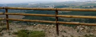 Valla Tejana de Madera en Mirador Barranco de Peñalén en Funes (Navarra)
