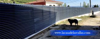 Verja para Jardín de Lamas en Abalos (La Rioja)
