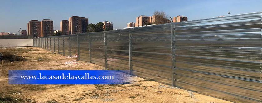 Valla Obra de Chapa Opaca en Valencia