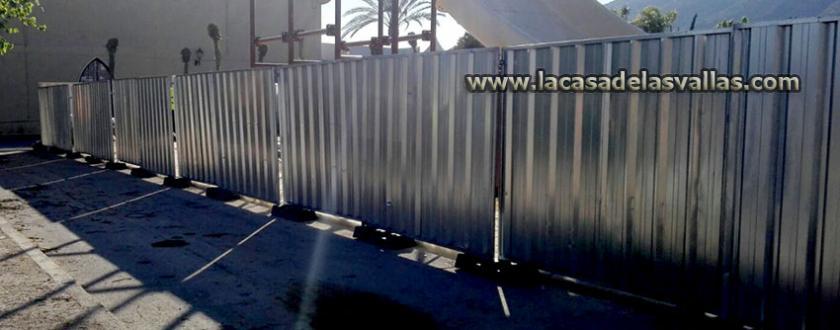Alquiler Valla Opaca Móvil en Camping Magic Excalibu de Alicante (Valencia)