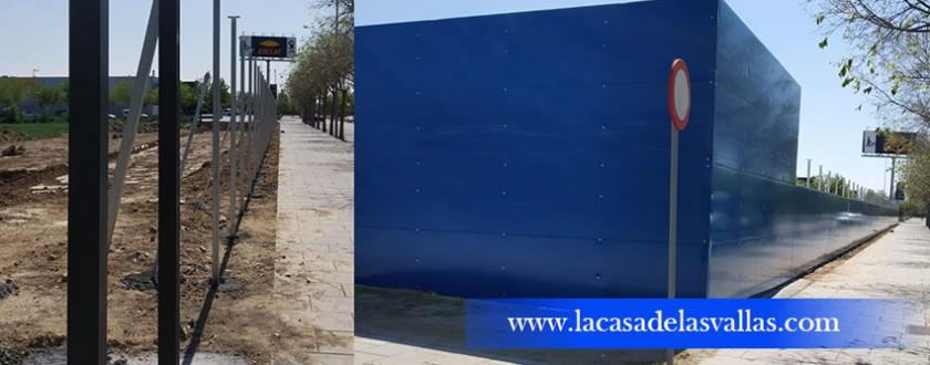 Valla de obra de Panel Sándwinch en LLeida