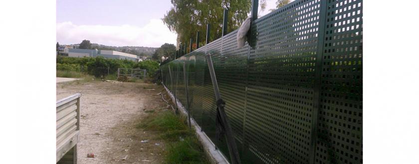 Valla de Chapa Perforada en Javea (Alicante)
