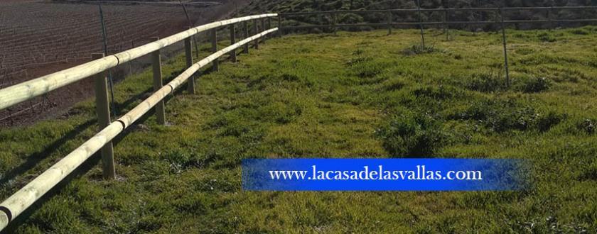Valla de Madera Tejana para el Ayuntamiento de Valdepeñas