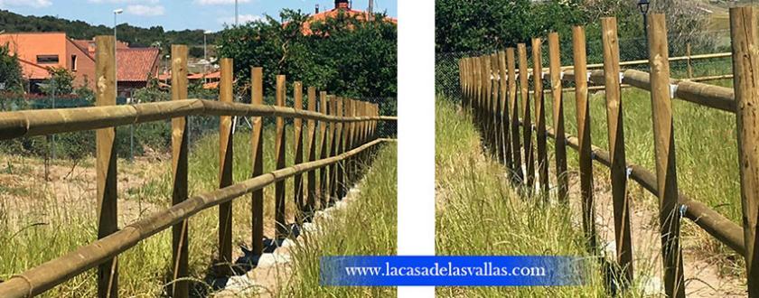 Valla de madera y de simple torsión en  Olabarri (Vitoria)