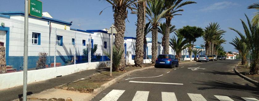 Valla de malla plegada  Hotel El Palmeral de Fuenteventura (Canarias)