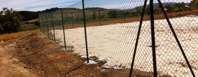 Valla de Simple Torsión Plastificada Verde en Tierra Estella (Navarra)