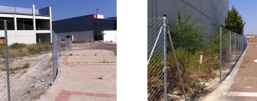 Vallado de parcelas en Polígono Empresarium de Zaragoza