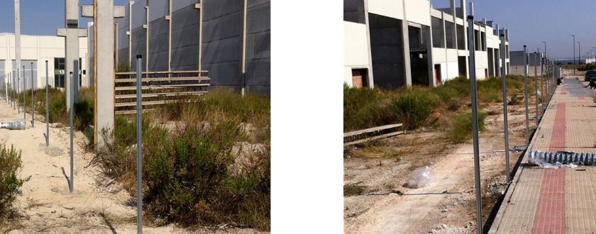 Vallado Metálico con Malla de Simple Torsión en parcelas en Polígono Empresarium de Zaragoza