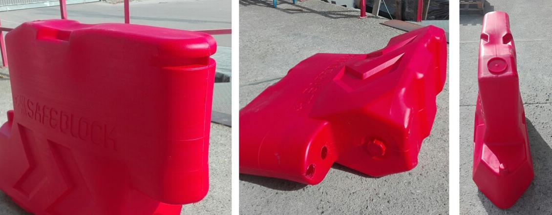 Barrera de Plástico New Jersey