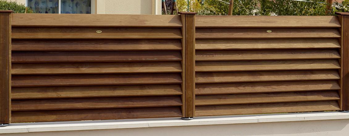 Valla de madera tipo persiana lacasadelasvallas - Valla de madera ...